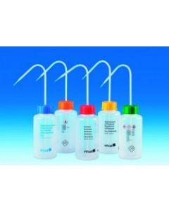 Wash bottle, safety, wide neck, Acetonitrile, 500ml