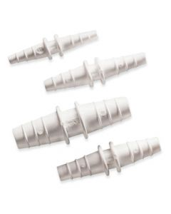 Tubing connectors, PP, white outlet 3mm