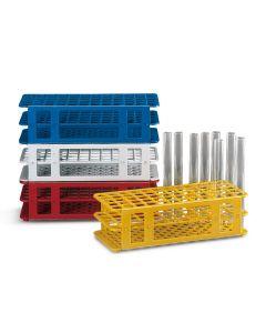 White plastic test tube rack for 60x16mm tubes