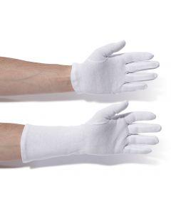 Gloves, cotton, 24cm Long, size 10
