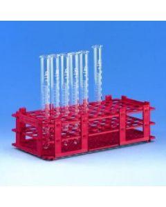 Test tube rack, for 40x 25mm diam. tubes, Red