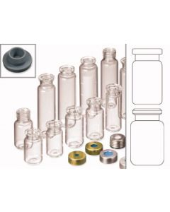 Vial cap, crimp, with bore hole, Butyl, ND20 type