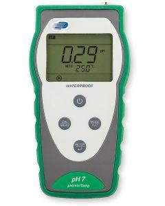 Portable pH meter, pH/mV/temp (c/w electrode/integral temp probe)