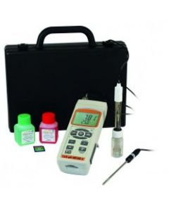 Portable pH meter, pH/mV/temp (c/w electrode + temp probe)