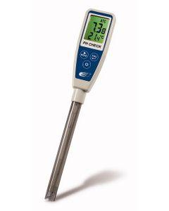 Tester style pH meter, pH/temp, ATC, water resistant