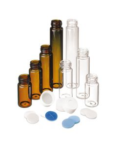 Glass vial, amber, without ND24 cap, 20ml